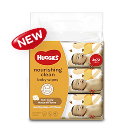 Huggies 174 Nourishing Clean Cocoa And Shea Butter Baby Wipes